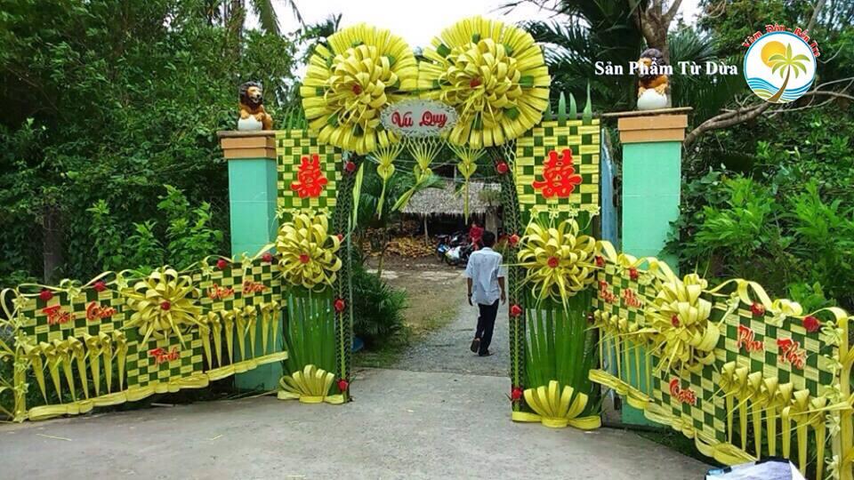 Đám cưới mà dựng cổng lá dừa, chưa bao giờ hết mốt vì quá xịn – Cổng cưới Miền Tây