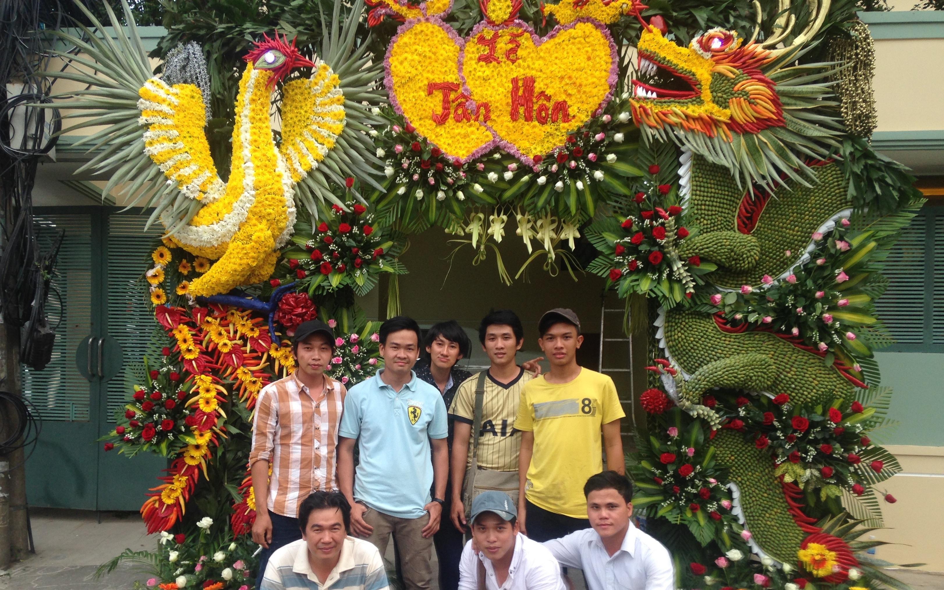 Dân Trí – Chiếc cổng cưới đậm sắc miền quê Nam bộ giữa lòng Sài thành