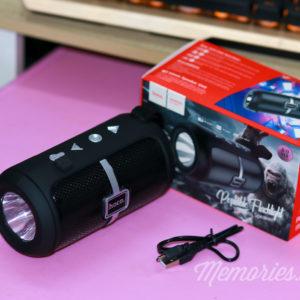 Loa Bluetooth Hoco DS03 V5.0 chính hãng chất lượng cao - Tích hợp đèn pin, cổng USB, Micro SD - Phụ kiện phượt, du lịch Memories.vn