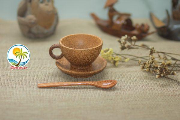 Bộ Ly - Tách Cafe Làm Từ Gỗ Dừa - Quà tặng trang trí handmade - Decor Craft Gifts Shop