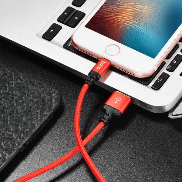 Cáp Sạc Nhanh Dây Dù Hoco X14 Lightning | Micro USB | Type C chất lượng cao - Chính Hãng 1m | 2m - Phụ kiện phượt, du lịch Memories.vn